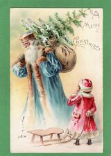 More details for santa claus father christmas blue robes pc used 1904 stewart & woolf ref l120