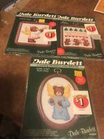 Vintage NIP Dale Burdett Cross Stitch Kits #CCK256 CCK249 CCK258 Bears
