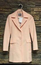Womens ASOS Polyester Elastane Jacket Blazer Lined Textured Pale Peach Sz 0 NWT