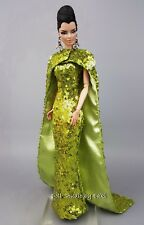 Eaki Design Silkstone Barbie Fashion Royalty Evening Dress Outfit Gown FR Model
