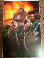 DIE! NAMITE # 1 Red Sonja - Ron Leary  VIRGIN VARIANT LTD. to 400 copies NM +