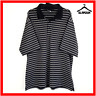 Nike Golf Mens Polo Shirt Size XL Fit Dry Collared T-shirt Black Striped Tour