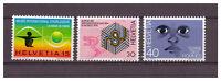 Schweiz, Jahresereignisse MiNr. 1000 - 1002, 1973**