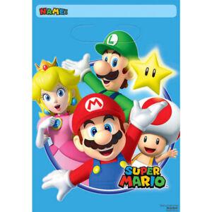 Super Mario Party Loot Bags 8pk - Super Mario Party Favour Supplies