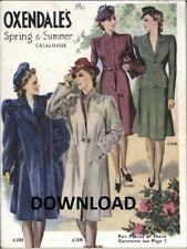 1941 Oxendales Mail Order Catalogue, Spring/Summer, Vintage, PDF DOWNLOAD