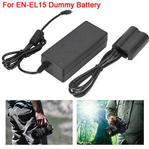 EN-EL15 Fully-Coded Dummy Battery Power Adapter for Nikon D750 D7000 D7100 Black