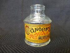 Antique Carter's Nickel Mucilage Bottle Nice Label