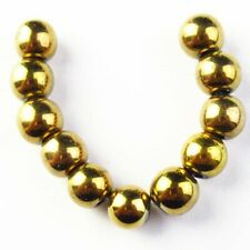 11Pcs/Set 8mm Gold Hematite Ball Pendant Bead S10988