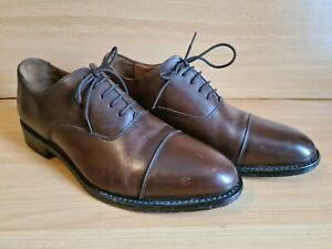 Samuel Windsor England Handmade Leather Formal Shoes Size 9 Brown Mens Lace Up