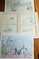 More details for  5  x vintage winnie the pooh,  ernest howard shepard sketch prints