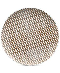 Noritake Khaki Hammock Dots Coupe Salad Plate 4 Pcs 01596