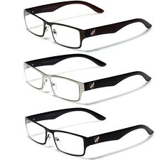 New Stylish Men Designer Reading Glasses 1.50 2.00 1.25 2.50 Clear Lens Readers