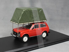 Ist Model Lada Niva in Red With Roof Tent 1981 IST295MR 1/43 NEW