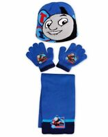 Boys Official Thomas the Tank Engine Hat Gloves and Scarf Set 3 PCs Set Age 2-6Y