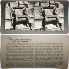 Keystone Stereoview Priest Seat 400 BC Theater, GREECE From RARE 1200 Card Set