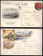 1908 INVERNESS, Scotland DAVID MACBRAYNE Steamer Card posted to France