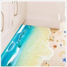 3D Beach Floor Wall Sticker Removable Mural Decals Vinyl Art Living Room Decor S