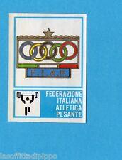 CAMPIONI dello SPORT 1973/74-Figurina n.73- FIAP- ATLETICA PESANTE -STEMMA-Rec