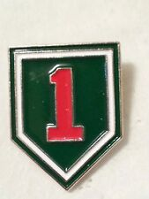 "US Army      ""BIG RED 1""    3/4 inch  Pin"