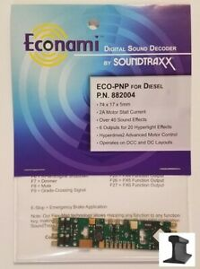 SoundTraxx ~ New 2021 ~ Econami ~ ECO-PNP ~ Diesel ~ Sound Decoder ~ 882004