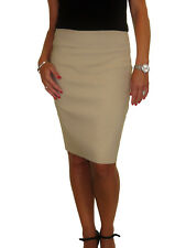 NEW Womens Stretch Bodycon Pencil Skirt Above Knee Smart Casual 6-18
