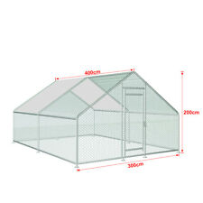 New listing 13x10ft Chicken Shed Fence Large Breeding Cage Outdoor Household  Rainproof