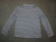 Bella Bliss Girls Navy & White Striped Long Sleeve Top - Size 8 - EUC