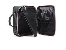 Women Travel Makeup Cosmetic Bag  Weekender Toiletry Handbag Black Mesh bag