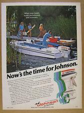 1978 Johnson 55-hp Outboard motor Viking Sport-deck boat photo vintage print Ad