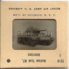 WWII US 35mm Recognition Slide Negative- M7 Medium Tank- Prototype Tank