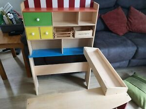 Toy Shop Market Stall Childrens Kids Wooden Role Play
