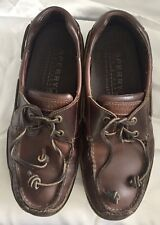 Sperry Top Sider Stingray Sz 8.5 Two Eye Leather Boat Shoes