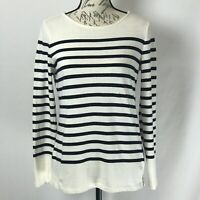 Talbots Sweater NWOT Women's Blue & White Striped Pullover Size XS