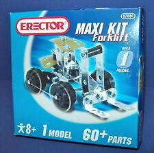 Erector Set  7080 Maxi Kit 1 Forklift  Model  60+ Parts NEW!