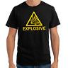 Explosive Warnhinweis Sprüche Geschenk Spaß Lustig Comedy Fun Spruch T-Shirt