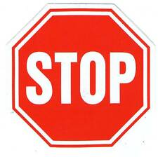 AUTOCOLLANT STICKER STOP DIMENSIONS 10,3 X 10,3 CM