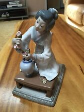 """Lladro Figurine """"ORIENTAL GIRL' """" #4840-Matte -Ret 1997 -V Martinez-7.75""""H-"""