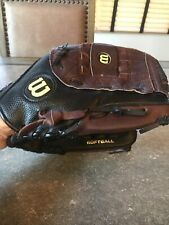"""Wilson Elite A2477 Softball Glove 13"""" Right Hand Throwers Black and Brown"""