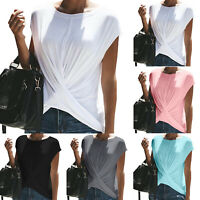 Womens Short Sleeve T Shirt Tops Crew Neck Summer Casual Blouse Tee Plus Size