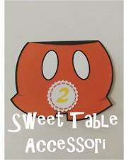 10 inviti  party set festa compleanno sweet table comunione battesimo topolino