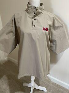 Ping Windbreaker Mens L 1/4 Snap Short Sleeve Beige Ole Miss Golf Jacket