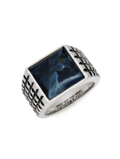 Spectacular Effy Pietersite & Sterling Silver Mens Ring Band New NIB 60% off!
