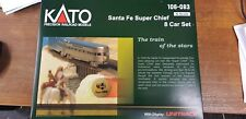 106-083 KATO N SCALE SANTA FE SUPER CHIEF 8 CAR SET WITH DISPLAY TRACK UK SELLER
