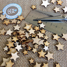 Wooden MINI MIXED STARS Embellishments weddings craft card making scrapbook
