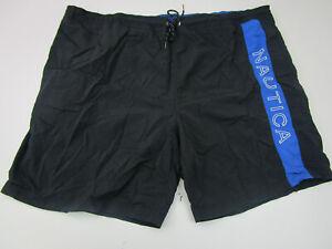 Nautica Board Shorts Adult 2XLT XXLT Tall Black Swim Trunk Bathing Suit Swimming
