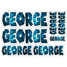 GEORGE Vinyl Name Stickers - A5 Sheet Computer Chip Laptop Name Kids Gift #30002