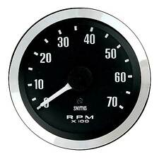 Smiths Classic Tachometer / Rev Counter 100mm Diameter / Black Face / 4 Cylinder