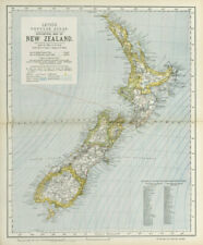 NEW ZEALAND Lighthouses railways telegraph cables ocean currents. LETTS 1883 map