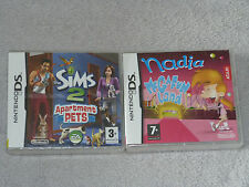 Les Sims Mes Petits Compagnons + Nadia Megafun Land - Lot 2 jeux NINTENDO DS 3DS