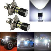 2 X H4 SMD CREE LED Fog DRL Driving Car Head Light Lamp Bulbs White Super Bright